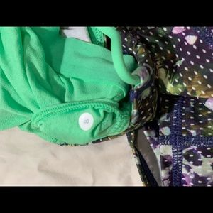 lululemon athletica Tops - Lululemon Green Pattern Workout Shirt